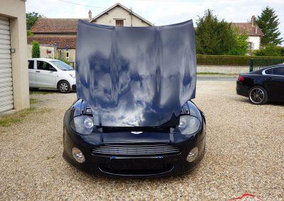 face avant capot ouvert Aston Martin DB7 Volante