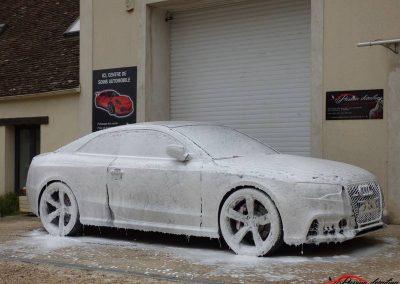 nettoyage mousse Audi RS5 client de Evry 91