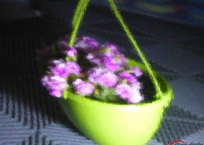 reflet fleurs avec peau d'orange