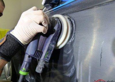 Polissage Audi Rs5 Poli lustré suppression de l'effet peau orange traitement céramique client de Evry 91