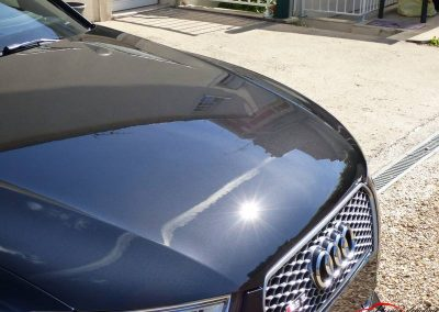 Capot avant Audi Rs5 Poli lustré suppression de l'effet peau orange traitement céramique client de Evry 91