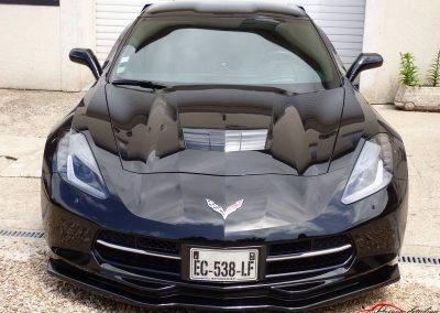 Corvette Z06 C7 Rendu final après correction des micro rayures et l'application d'un traitement céramique Créteil 94 val de marne